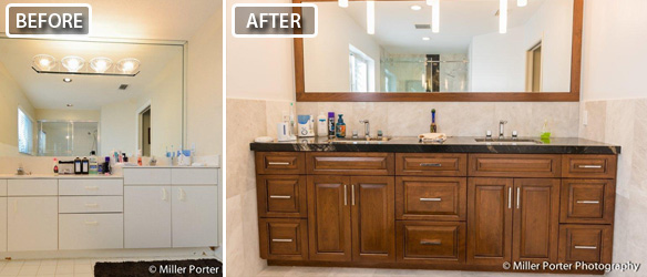 Palmetto Bay bathroom remodeling before and after photos