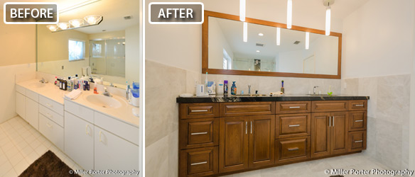 Palmetto Bay bathroom remodel before and after photos