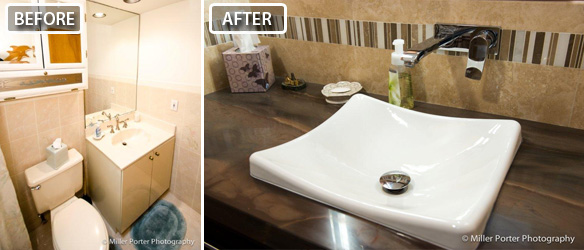 Homested bathroom remodeling before and after photos