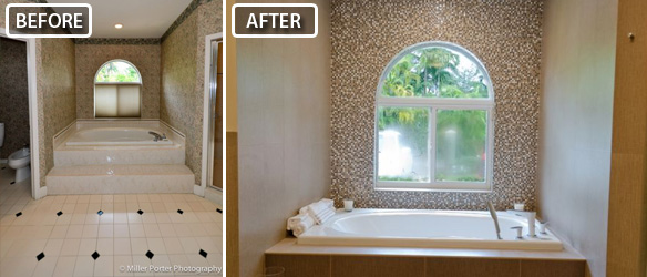Kendall bathroom remodeling before and after photos