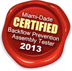 Certified Backflow Prevention Assembly Tester Miami-Dade