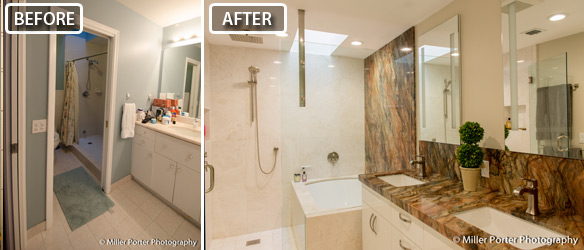 Homested bathroom before and after photos