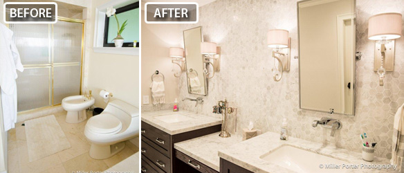South Miami bathroom remodeling before and after photos