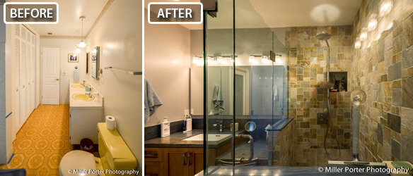 Aventura bathroom before and after photos