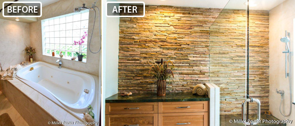 Corla Gables bathroom remodel before and after photos