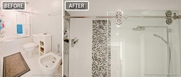 Doral bathroom remodeling before and after photos