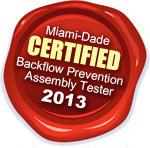 Certified Backflow Prevention Assembly Tester Aventura